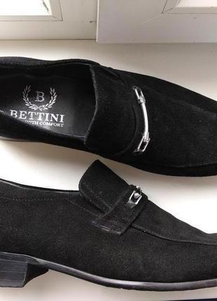Брендові туфлі чоловічі мешти bettini 45 [італія] (мужские замшевые)