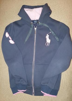 Брендовый спортивный  свитер на молнии теплый на флисе толстовка