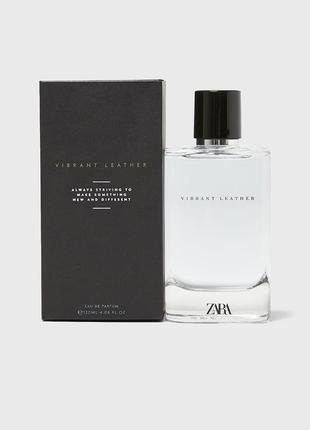 Zara vibrant leather 120мл! самодостатній, шикарний, стійкий парфум! оригінал, іспанія!