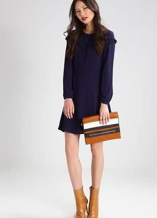 Брендовое синее нарядное вечернее миди платье new look этикетка