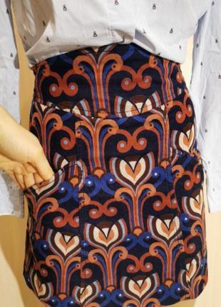 Вельветовая юбка zara высокая талия