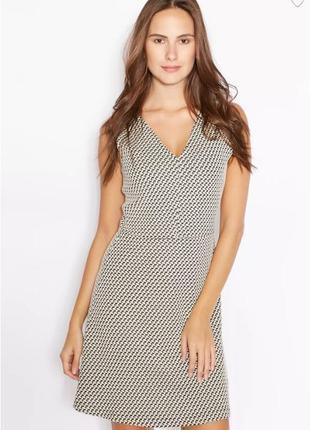 Коттоновое текстурированное миди платье с v-образным вырезом без рукавов mango марокко