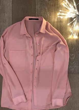 Guess пудровая-рубашка