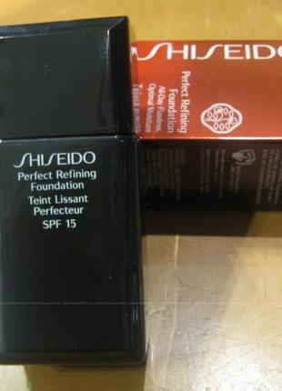 ❤shiseido perfect refining foundation spf 15 выравнивающий тональный крем