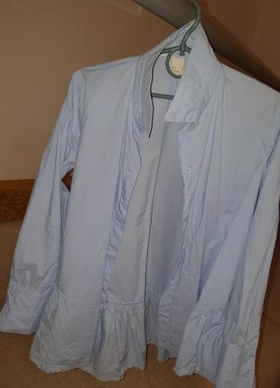 Рубашка hm с рюшами