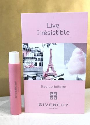 Givenchy live irresistible eau de toilette туалетная вода {пробник}