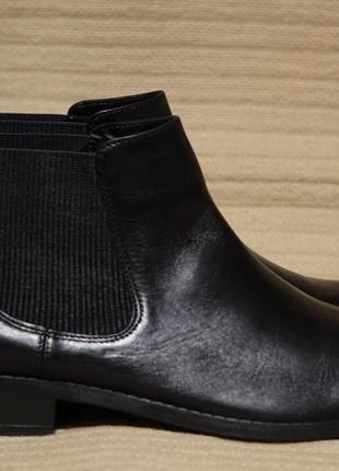 Мягкие черные кожаные полусапожки - челси clarks artisan англия 43 р.