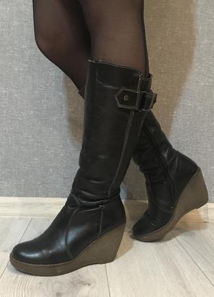 Ботинки зимние, сапоги, ботфорты, натуральная кожа