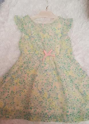 Нарядное шифоновое платье на девочку 2 - 3 лет/98/h&m