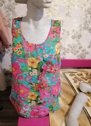 Шифоновая блуза майка