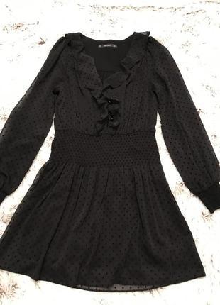 Чёрное платье -комбенизон