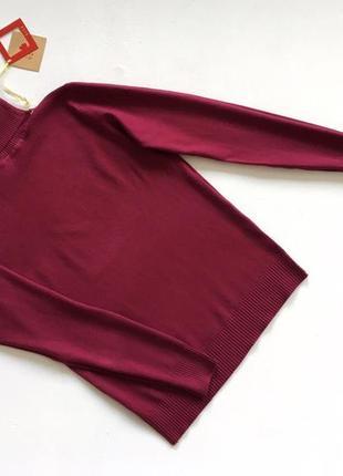 Новый стильный гольф натуральная ткань цвет марсала бордовый s-m