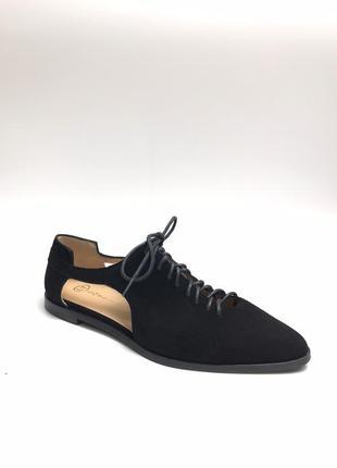 Замшевые туфельки, мюли