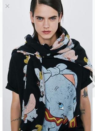 Оверсайз футболка из новой коллекции zara, dumbo disney, свободный крой, плотная, новая! 🤓