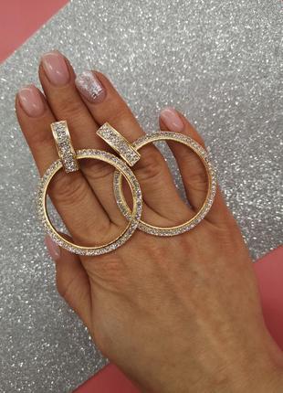 Праздничные сережки круги. серьги кольца