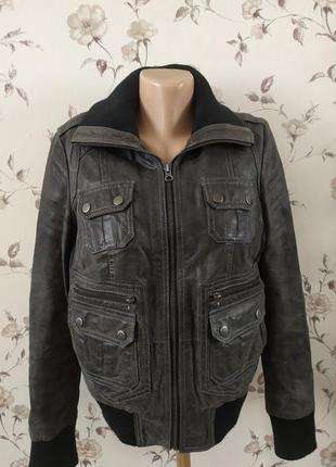 Кожаная курточка бомпер
