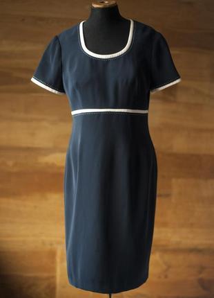 Черное базовое платье в классическом стиле viyella, размер м, l