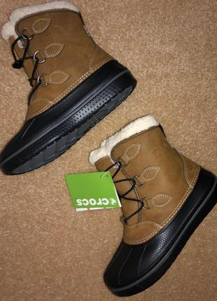 Зимние кожаные сапоги crocs c12 c12 j1 j3