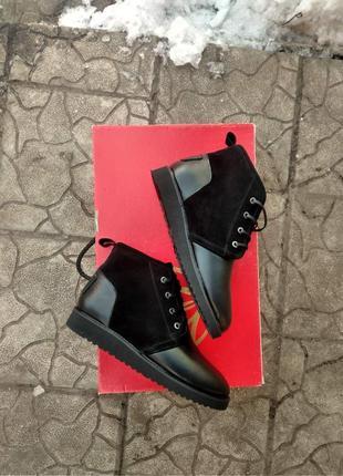 Кожаные ботинки угги мужские