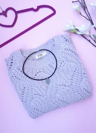 Ажурный лавандовый свитер clockhouse
