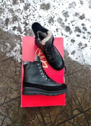 Кожаные ботинки берцы зимние и демисезонные звериный принт