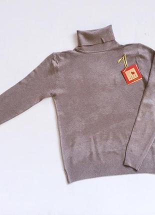 Новый стильный гольф натуральная ткань цвет мокко размер s-m