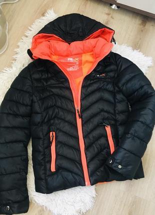 Курточка дутая унисекс с капюшоном rlx
