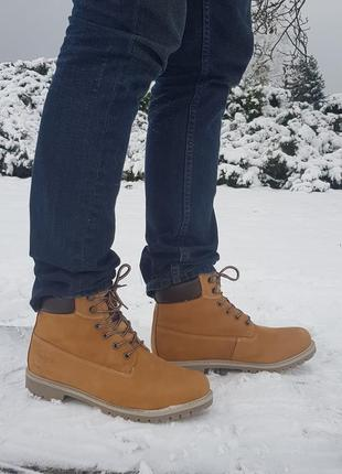Зимние мужские ботинки dockers оригинал натуральная кожа, мех 41-47