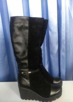 Хорошие теплые зимние сапоги, ботинки высокие