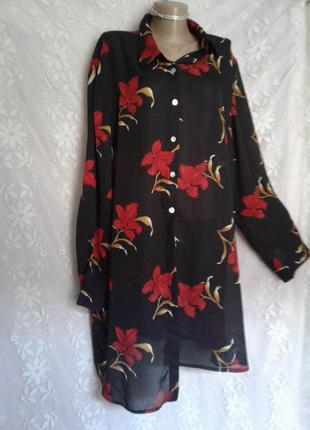 Удлиненная блуза- туника,5xl.
