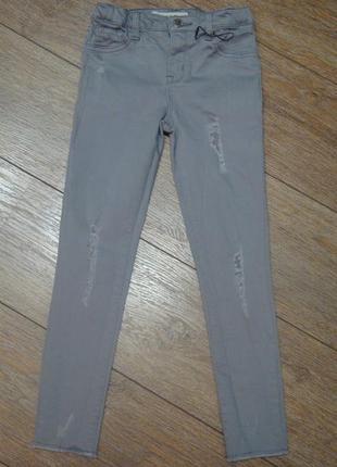 Красивые стильные джинсы denimco 7-8 лет