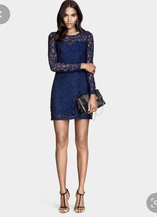 Очень красивое кружевное платье от h&m / нарядное платье/ стильное плать