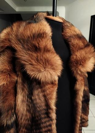 Шикарное меховое манто пальто шуба поперечка трапеция натуральная теплое