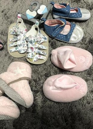 Пинетки, балетки, босоножки, тапочки 6-18 месяцев h&m primark next для девочки