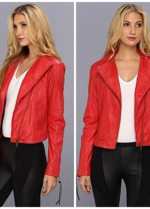 Красная кожаная куртка diesel