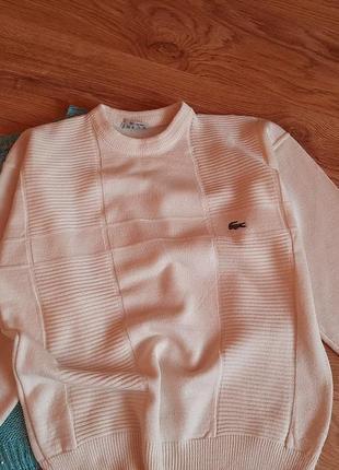 Lacoste теплый свитер с объемными рукавами