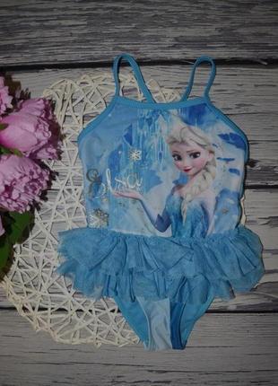 1 - 2 года 92 см обалденный купальник девочке моднице пачка холодное сердце frozen эльза