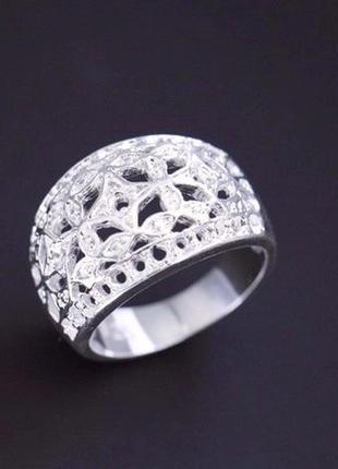 🏵красивое ажурное кольцо в серебре 925, 17 р., новое! арт. 1942