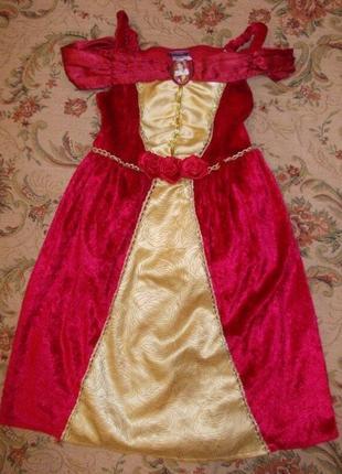 Продам карнавальное платье принцесса белль на 2-3 года рост 92-98см