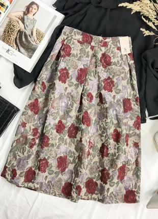 Женственная пышная юбка средней длины  ki1949112  tu