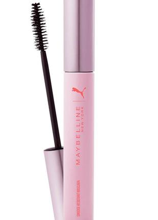 Тушь puma х maybelline new york smudge-resistant mascara