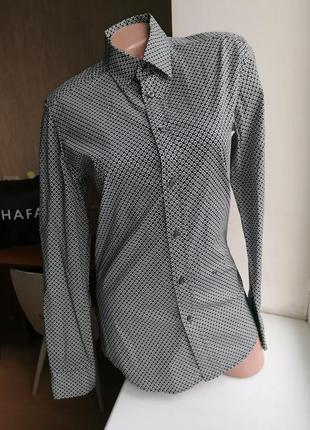 Натуральная рубашка с длинным рукавом с мелким принтом diesel оригинал (к068)
