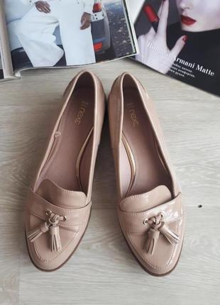 Лоферы  next / светлые туфли без каблука