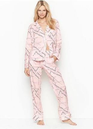 Хлопковая пижама victoria's secret. размер l.