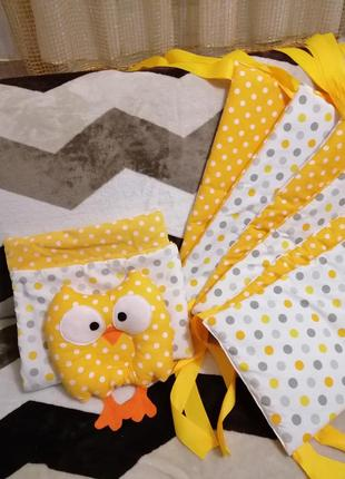 Бортики в детскую кроватку, комплект в коляску (одеялко + подушка) babysoon