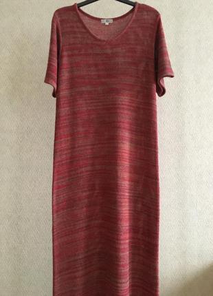 Трикотажное платье макси seta & seta шелк крапива