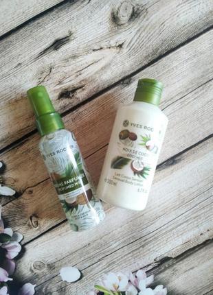 Набор кокосовый орех: парф.спрей 100мл + гель для душа 200мл ив роше