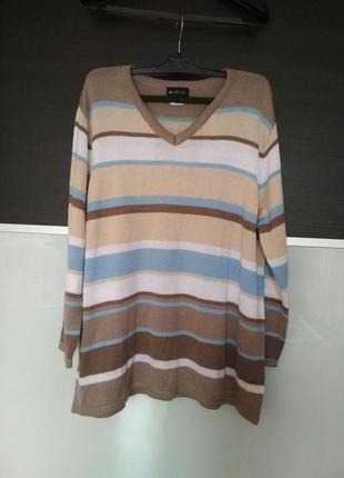Шикарный джемпер,пуловер в полоску германия