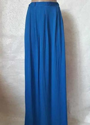 """Фирменная atmosphere вискозная юбка в пол сочного синего цвета """"електрик"""", размер хл"""