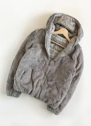 Обалденная двухсторонняя плюшевая шубка oversize (куртка, шуба)